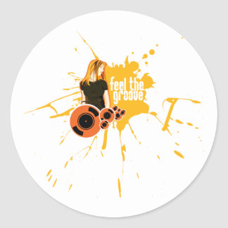 Feel The Groove Sticker