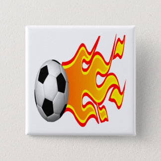 Feel The Heat 15 Cm Square Badge