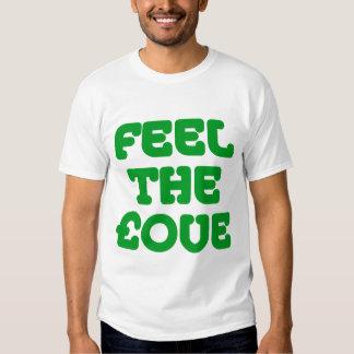 Feel The £ove - Grass Green on Light Tee Shirt