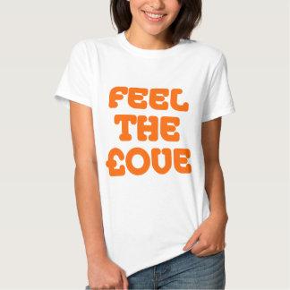 Feel The £ove - Orange on Light Tshirt