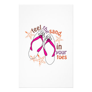 Feel The Sand In Your Toes Stationery