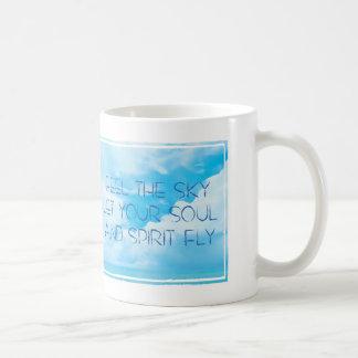 Feel the sky mug