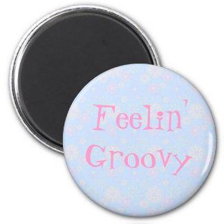 Feelin' Groovy Flower Child 6 Cm Round Magnet