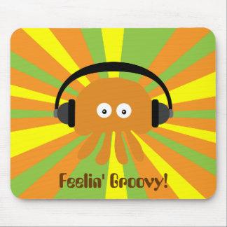 Feelin' Groovy Retro Jellyfish DJ Psychedelic Mousepads