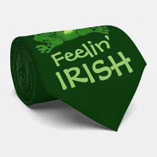 Feelin' Irish Funny Frog - Tie