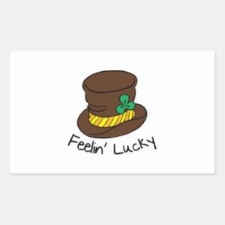 Feelin Lucky Rectangle Stickers