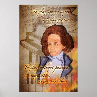 Feeling Beethoven (An Original Digital Painting) Poster
