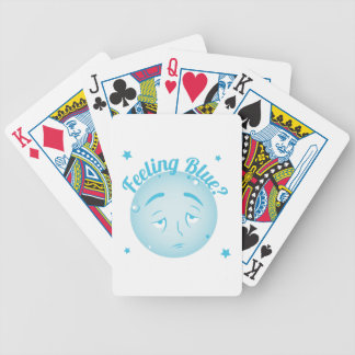Feeling Blue Bicycle Playing Cards