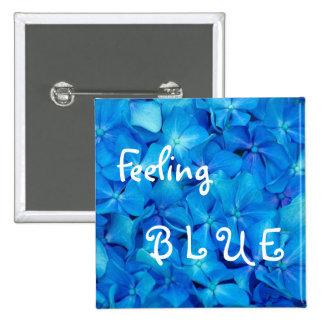 Feeling Blue hydrangea Button