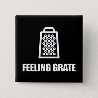 Feeling Cheese Grater 15 Cm Square Badge