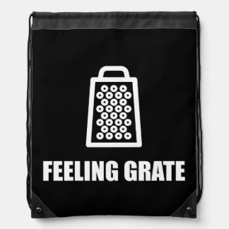 Feeling Cheese Grater Drawstring Bag