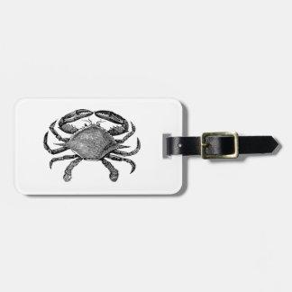 Feeling Crabby Black Luggage Tag