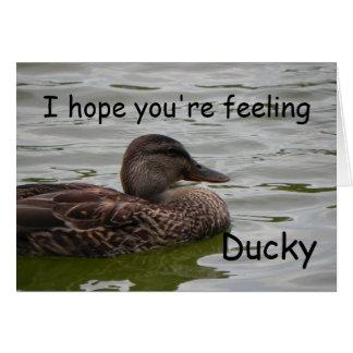 Feeling Ducky Card
