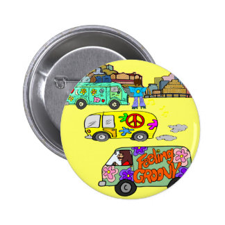 Feeling Groovy Baby Boomer Pinback Button