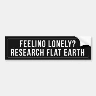FEELING LONELY? RESEARCH FLAT EARTH Sticker