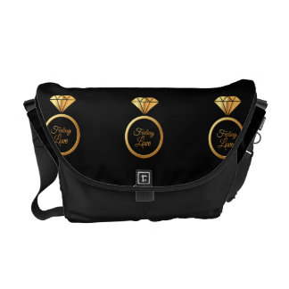 Feeling Love - Luxurious golden Diamont Ring Patte Commuter Bag