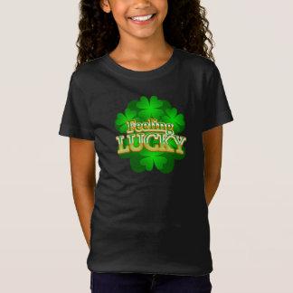 Feeling Lucky Girls dark T-shirt
