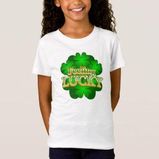 Feeling Lucky Girls white T-shirt