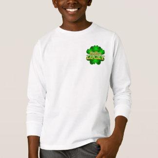 Feeling Lucky Kids white long sleeve T-shirt