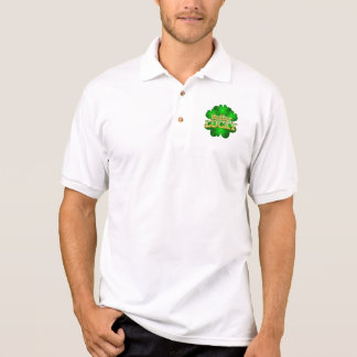 Feeling Lucky Men's white collar T-Shirt