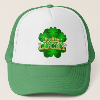 Feeling Lucky shamrock Trucker Hat