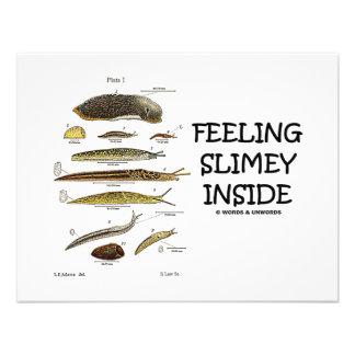 Feeling Slimey Inside Slugs Custom Invitations