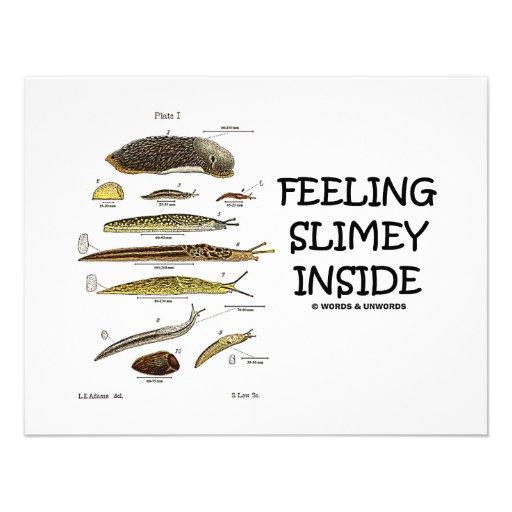 Feeling Slimey Inside (Slugs) Custom Invitations