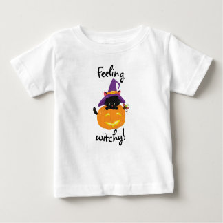 Feeling Witchy Cat Baby T-Shirt
