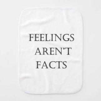 Feelings Aren't Facts Burp Cloth