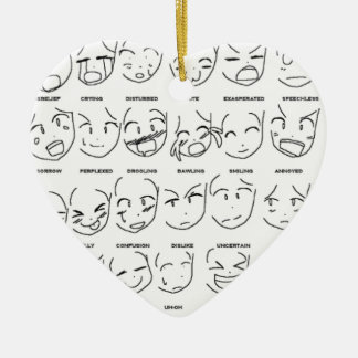 feelings emotions ceramic heart decoration