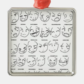 feelings emotions Silver-Colored square decoration