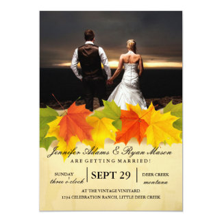 feelings love in sunset.couple wedding/leafs,fall, card