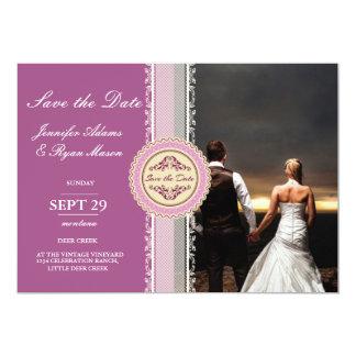 feelings love in sunset.couple wedding/pink card