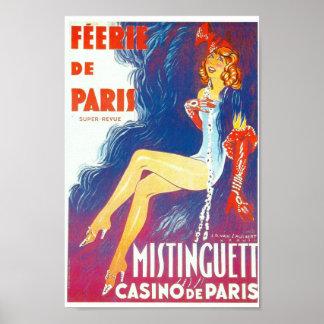 Féerie de Paris Mistinguett Paris cabaret Print