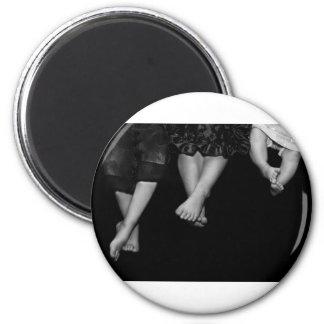 feet 6 cm round magnet