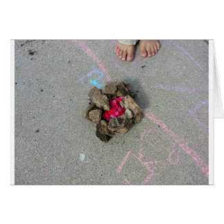 Feet and Flower Fire Greeting Card
