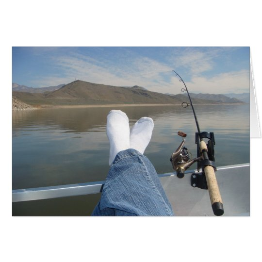 feet fishing card