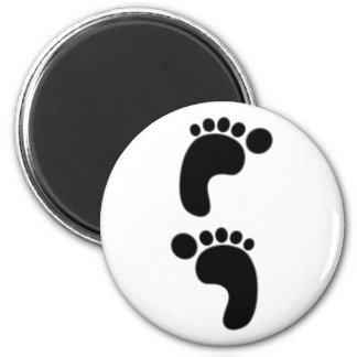 Feet footprints feet footprints fridge magnet