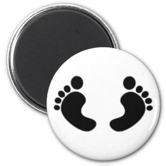 Feet footprints feet footprints fridge magnets