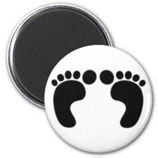 Feet footprints feet footprints refrigerator magnet