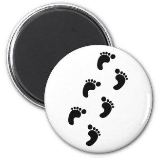 Feet footprints footprints feet refrigerator magnet