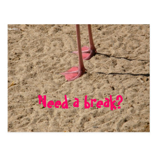 feet in the sand, Need a break? Postcard