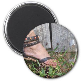 Feet Refrigerator Magnet