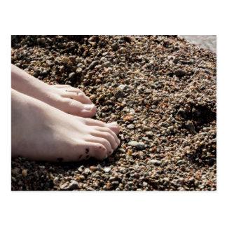 Feet on Beach Postcard