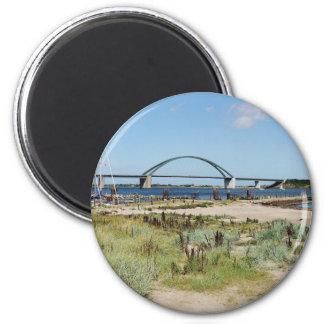 Fehmarnsundbrücke 6 Cm Round Magnet