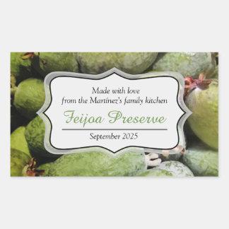Feijoa jam preserve green fruit label sticker