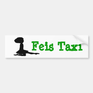 """Feis Taxi"" Irish Dance Bumper Sticker"
