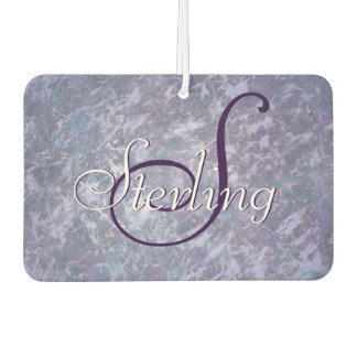 Feisty Auto | Name Lavender Purple Splatter | Chic Car Air Freshener