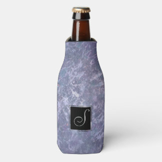 Feisty Bar | Monogram Lavender Purple Splatter | Bottle Cooler