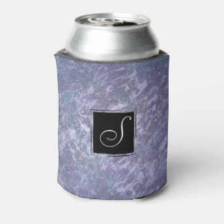 Feisty Bar | Monogram Lavender Purple Splatter | Can Cooler
